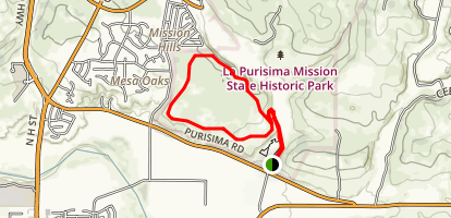 La Purisma Mission State Park Map