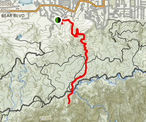 Pine Knot Trail to Grand View Point Map