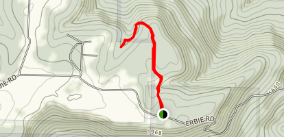 Hideout Hollow Trail Map