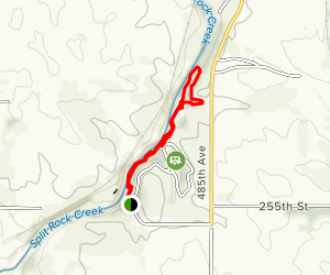 Split Rock Creek Trail: Palisades State Park Map