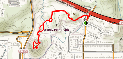 Stoney Point via North End  Map