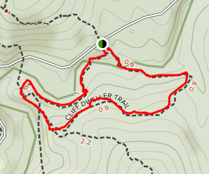Cliff Dweller Trail Map