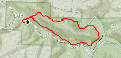 Rush Mountain Mining Loop Trail Map