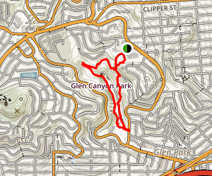 Glen Canyon Park Trail Map