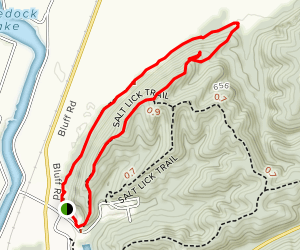 Salt Lick Point Trail Map