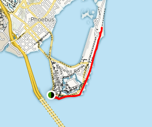 Fort Monroe Seawall Trail Map