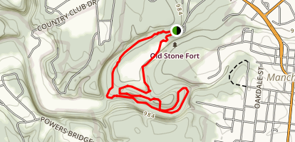 Old Stone Fort Loop Trail Map