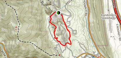Red Rocks Trading Post Trail Map