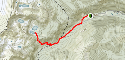 Crater Lakes Trail Map