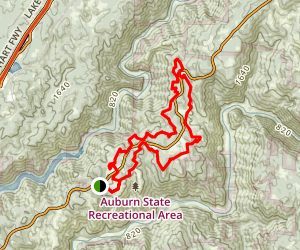 Foresthill Divide Loop Trail Map