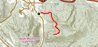 Poo Poo Point Trail Map