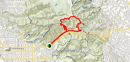 Turnbull Canyon Trail Map