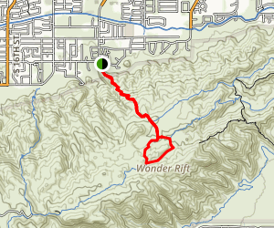 Hidden Valley Trail Via Mormon Trail Map