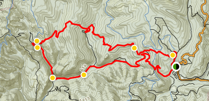 Berry Creek Falls Trail Map