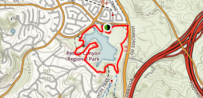 Peters Canyon Lake View Trail Map