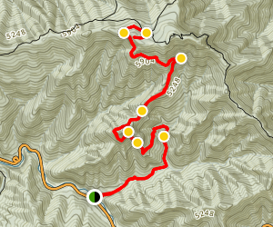Alum Cave Trail to Mount LeConte Map