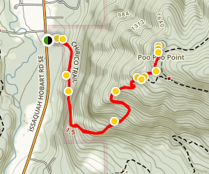 Chirico Trail to Poo-Poo Point Map