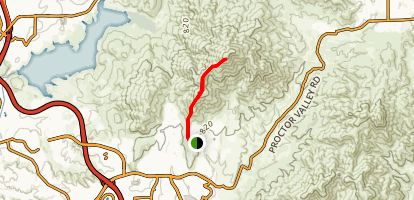 San Miguel Mountain Trail [CLOSED] Map