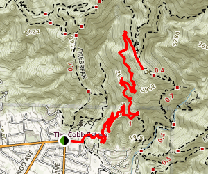 Echo Mountain via Sam Merrill Trail Map