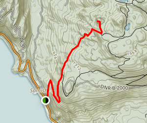 Oyster Dome Trail Map