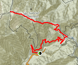 Mt. Baldy via Devil's Backbone Trail Map