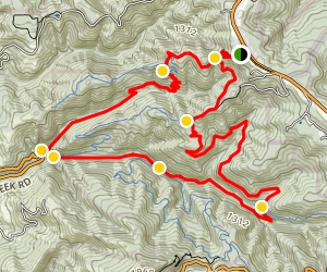 Whitemore Gulch and Purisima Creek Loop Trail Map
