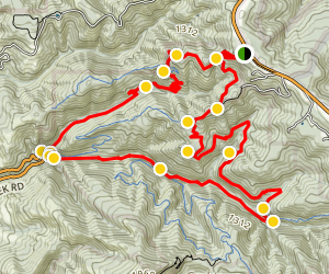 Whitemore Gulch and Purisma Creek Loop Trail Map
