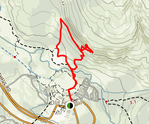 Observation Point Loop Trail Map