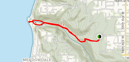 Meadowdale Beach Trails Map