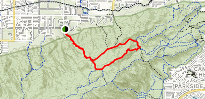Mormon Loop to National Trail Loop Map