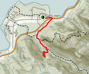 Marymere Falls Trail Map