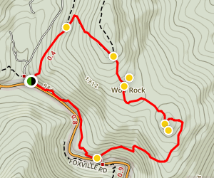 Wolf Rock & Chimney Rock Trail Map