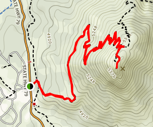 Stonewall Peak Trail Map