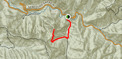 Chimney Tops Trail [CLOSED] Map