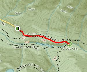 Sol Duc Falls Nature Trail Map