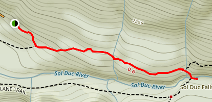 Sol Duc Falls Trail Map