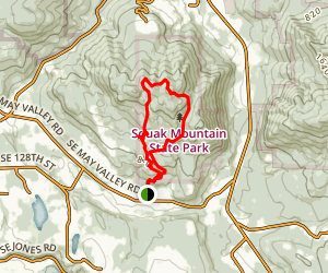 Squak Mountain May Valley Loop Trail Map