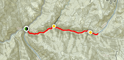 Fifth Water Hot Springs Trail Map