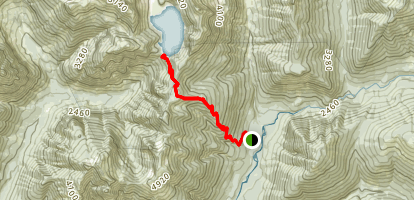 Blanca Lake Trail Map