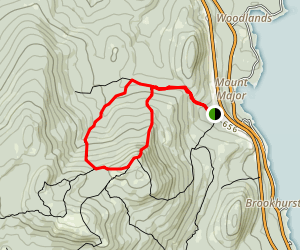 Mount Major and Brook Trail Loop Map
