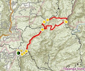 Eagle Springs Fire Road Loop Trail Map