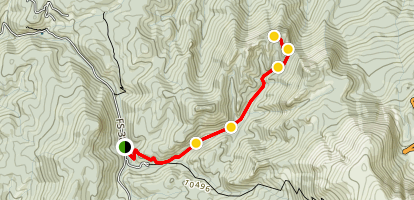 The Crags Trail Map