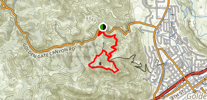 Mount Galbraith Loop via Cedar Gulch Trail Map