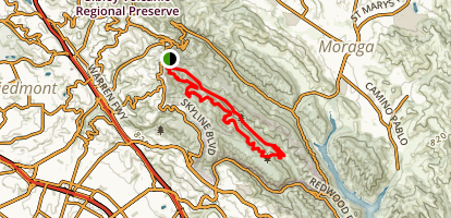 French Trail and Stream Trail Loop via Skyline Blvd Map