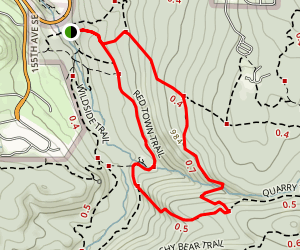Red Town (Cougar Mountain) Trail Map