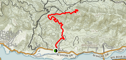 Bertha Peak Trail Map