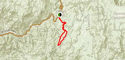 Bear Canyon Loop Trail to Pigeon Spring Map