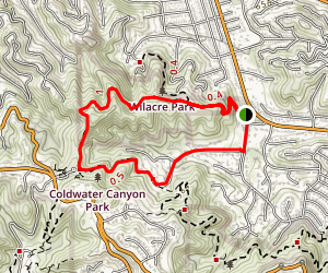 Fryman Canyon Trail Map