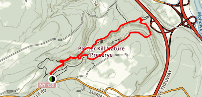 North Rim and South Rim Red Trail Loop Map