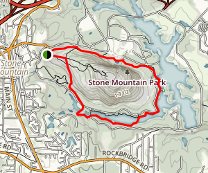 Stone Mountain Cherokee Loop Trail Map